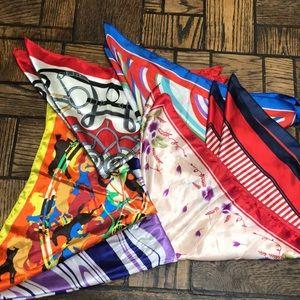 Vintage 1970s lot of Jackie-O scarves scarf-6